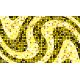 """שטיח """"פסיפס גיאומטרי"""" - גווני צהוב 70 על 120 ס""""מ"""