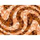 """שטיח """"פסיפס גיאומטרי"""" - גווני כתום 60 על 80 ס""""מ"""