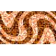 """שטיח """"פסיפס גיאומטרי"""" - גווני כתום 70 על 120 ס""""מ"""