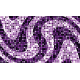 """שטיח """"פסיפס גיאומטרי"""" - גווני סגול 70 על 120 ס""""מ"""