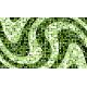 """שטיח """"פסיפס גיאומטרי"""" - גווני ירוק 70 על 120 ס""""מ"""