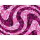 """שטיח """"פסיפס גיאומטרי"""" - גווני ורוד 60 על 80 ס""""מ"""