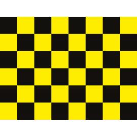 """שטיח PVC """"דגל מרוצים"""" - צהוב"""